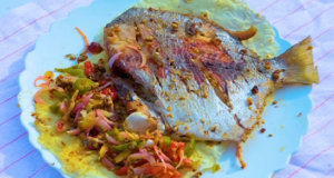 Butter Fly Fish Recipe | Flame On Hai