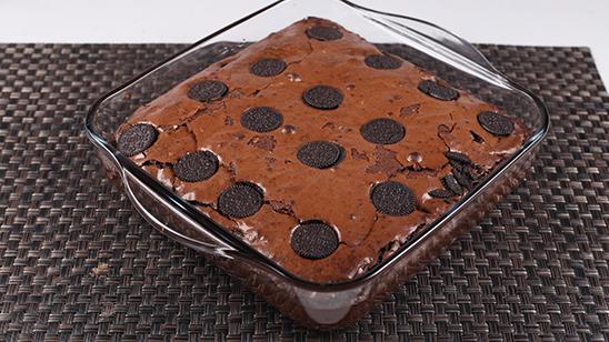Dark Cookie Brownie Recipe   Food Diaries