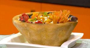 Macaroni Baked Basket Recipe | Tarka