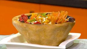 Macaroni Baked Basket Recipe   Tarka