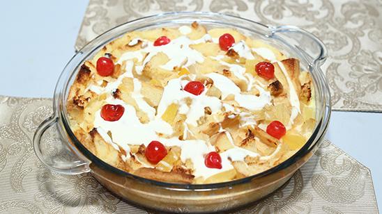 Pina Colada Bread Pudding Recipe | Lazzat