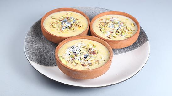 Zafrani Coconut Kheer Recipe   Lazzat